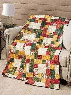 New Quilt Patterns - EXCLUSIVELY ANNIE'S QUILT DESIGNS : Dashing Quilt Pattern Christmas Tree Quilt, Christmas Quilt Patterns, Christmas Fabric, Tree Quilt Pattern, Scrap Quilt Patterns, Block Patterns, Annie, Optical Illusion Quilts, Table Topper Patterns