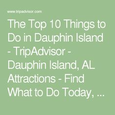 The Top 10 Things to Do in Dauphin Island - TripAdvisor - Dauphin Island, AL Attractions - Find What to Do Today, This Weekend, or in July