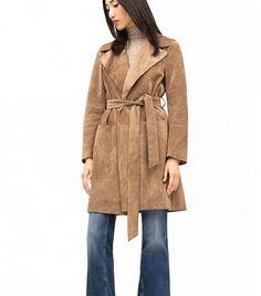 Zara Suede Studio Trench Coat