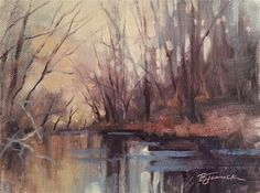 """""""Over the River and Through the Woods"""" - Original Fine Art for Sale - © Barbara Jaenicke"""