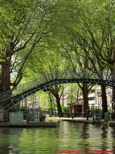 Footbridge Canal Saint Martin Paris
