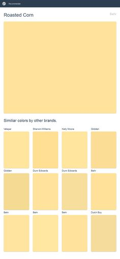 Roasted Corn, Behr. Click the image to see similiar colors by other brands.