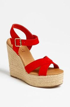 TopShop Red Hot Wedges