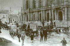 1911 - Entrega de Pianos Pleytel no Teatro Municipal, na praça Ramos de Azevedo.