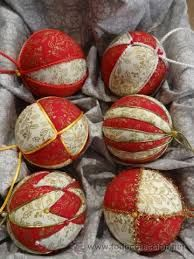 Bolas navideñas - patchwork sin aguja