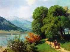 """""""Göl Kenarı"""", Hoca Ali Rıza (1858 – 1930)"""