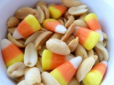 Candy Corn and Salted Peanuts.