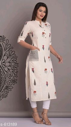 Collar Kurti Design, Kurti Sleeves Design, Sleeves Designs For Dresses, Kurta Neck Design, New Kurti Designs, Simple Kurta Designs, Kurta Designs Women, Kurti Designs Party Wear, Stylish Kurtis Design