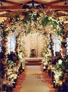gorgeous fairytale wedding ceremony decoration ideas