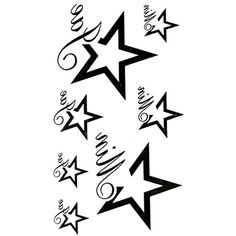 Oottati Small Cute Temporary Tattoo Star (2 Sheets) -- For more information, visit image link. (This is an affiliate link and I receive a commission for the sales)