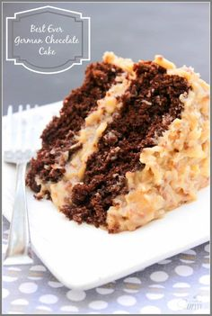 Best Ever German Chocolate Cake a moist chocolate cake and traditional coconut pecan frosting, layer upon layer of goodness. Best Ever German Chocolate Cake a moist chocolate cake and traditional coconut pecan frosting, layer upon layer of goodness. Cupcake Recipes, Baking Recipes, Cupcake Cakes, Dessert Recipes, Cupcakes, Easy Recipes, Moist Cake Recipes, Poke Cake Recipes, Cake Cookies