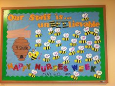Nurses week bulletin board