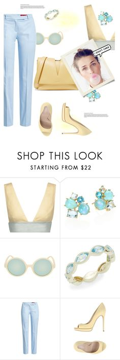 """""""Who cares"""" by gabrielleleroy ❤ liked on Polyvore featuring Valentino, Ippolita, Topshop, Meira T, HUGO, Casadei and Jil Sander"""