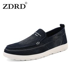 ZDRD 2017 New Fashion Men Casual Shoes Canvas Slip-on Men Driving Shoes High Quality Men Shoes Luxury Brand Men Leisure Shoes #Affiliate