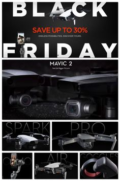 DJI Black Friday / Cyber Week 2018 Starts 18th November.  Great Black Friday and Cyber Week deals all the way through to November 27th with up to 30% off.