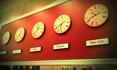 Clocks are cute Cafe Design, Clocks, Wall, Home Decor, Cafeteria Design, Decoration Home, Room Decor, Watches