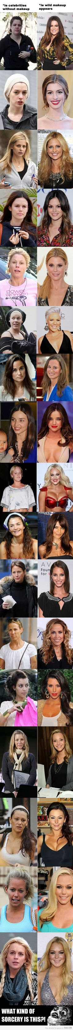 NEVER compare yourself to celebs. Without all the glitz and glam, they look just like the rest of us.