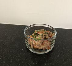 Kiphapje ; kip , wokgroentjes , gebakken rijst
