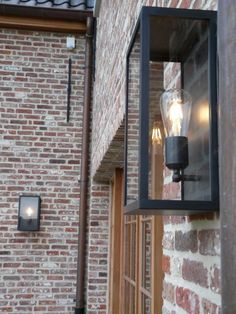 Nyche exclusieve landelijke verlichting by lombre cage wall large BD Outside Lighting Ideas, Outdoor Wall Lighting, Exterior Lighting, Landscape Lighting, Home Lighting, Exterior Design, Interior And Exterior, Wall Clock Wooden, Belgian Style