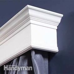 How to Build Window Cornices. I could make these to match my Ikea Billy Bookcase hack! Love this!