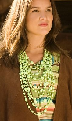 Editor's Pick: A great statement piece - Gaspeite necklace