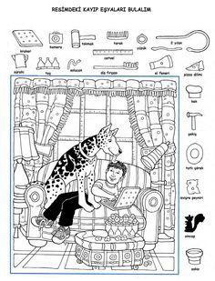 Hidden Picture Games, Hidden Picture Puzzles, Hidden Object Puzzles, Hidden Objects, Coloring Sheets, Coloring Pages, Hidden Pictures Printables, Highlights Hidden Pictures, File Folder Activities