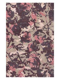 Jaipur Living Rugs En Casa Floral and Leaves Pattern Hand-Tufted Wool Rug