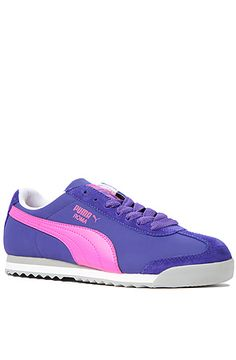The Roma L NBK Sneaker in Liberty Blue and Pink by Puma GET 25%OFF YOUR ORDER at KARMALOOP USING REPCODE : FAIRMONT #FASHION #GIRL #WOMEN