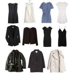 """""""Capsule Wardrobe--Coats, Jackets, and Dresses"""" by keelyhenesey on Polyvore"""