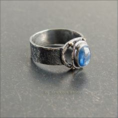 Ring with kyanite - Strukova Elena - author decorations