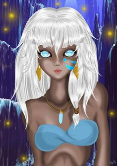 Very beautiful fanart of Kida, her eyes are mesmerizing <3 No idea what's going on with her rib cage though, it's kind of painful looking,