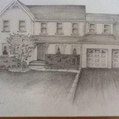 Sketch of my home  by artist/daughter renee