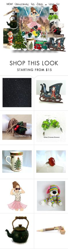 """""""Wow! Christmas In July ~ Love It!"""" by sylvia-cameojewels ❤ liked on Polyvore featuring Mela Loves London, Spode and Handle"""