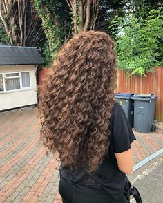 Dyed Curly Hair, Thick Curly Hair, Colored Curly Hair, Curly Hair Styles, Golden Highlights Brown Hair, Hair Highlights, Permed Hairstyles, Pretty Hairstyles, Amazing Hairstyles