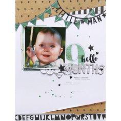 9 months – schere, kleber und papier