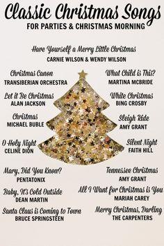 Classic Christmas Playlist (Every Day Cheer) - Joyeuxx Noel 2020 Christmas Songs List, Classic Christmas Songs, Christmas Playlist, Noel Christmas, Merry Little Christmas, Christmas Activities, Christmas Morning, Christmas Traditions, Traditional Christmas Carols