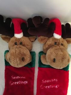 i decided to make a matching christmas stocking for my sons wife when they got married he had a moose stocking for years and i thought it - Moose Christmas Stocking