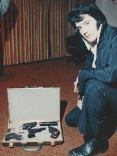 November 1970 ~ Elvis with His Guns ~ Denver, Colorado