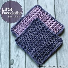 Little Facecloths Free crochet Patterns 2 sizes
