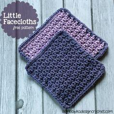 Little Facecloths Free crochet Patterns 2 sizes