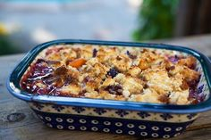 Apricot Berry Cobbler ~ Apricot and berry cobbler with buttermilk biscuit cobbler topping. ~ SimplyRecipes.com