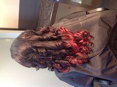 Dark Red Violet/Red ombré