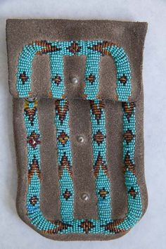 Native American Beaded Tobacco Pouch - Souix