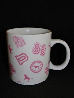 VICTORIA'S SECRET PINK logo XL oversized mug-eBay-pretty-n-pink83 Coffee Cups, Tea Cups, Vs Pink, Victoria's Secret Pink, Affair, Amy, Victoria Secret, Mugs, Pretty
