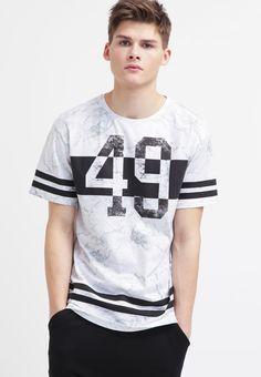 YOUR TURN Camiseta print - white/black - Zalando.es