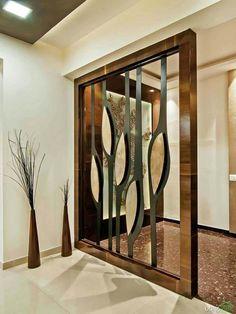Living Room Divider Design Ideas Create A Foyer Living Room Partition Design, Living Room Divider, Room Partition Designs, Diy Room Divider, Room Dividers, Partition Ideas, Wood Partition, Room Divider Walls, Chandelier Design