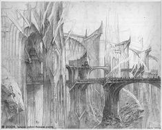 The Foundations of Barad-dûr (1) ~ John Howe