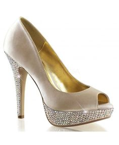 ESCARPINS STRASS CHAMPAGNE FABULICIOUS #pleaser #chaussures #femme #mariage