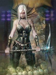 Artist: Unknown - Title: Unknown - Card: Awakening Grim Reaper (Restore)