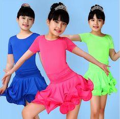 >> Click to Buy << New 2017 Girls Short Sleeves Latin Dance Dress Kids Ballroom Dance Wear Children Fancy Dress Salsa Tango Rumba Cha Cha Costume #Affiliate